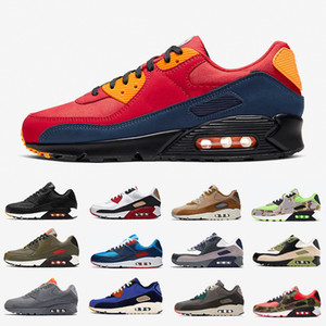 Nike air max 90 airmax Londres Essential 90 hommes chaussures de course infrarouge Camo Worldwide Premium SE Red Hyper Grape Royal 90s Hommes Femmes Formatrices Sports Sneakers