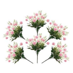6 stücke Löwenzahn Künstliche Blume Gefälschte Löwenzahn Braut Hochzeit Pflanze Blumenstrauß Home Garten Terrasse Party Dekoration