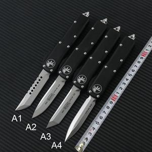 Yüksek kaliteli Microtech UTX85 UltrateCh UTX-85 UTX85 UTX-70 UTX70 Bıçak D2 Blade T6 Alüminyum (CNC) Kolu Açık Kamp Bıçaklar EDC Aracı