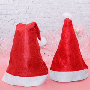 UPS! Christmas Hats Santa Clus Decorations Ordinary Non-woven Adult Children Hats Christmas Ornaments Festival Party Caps A12
