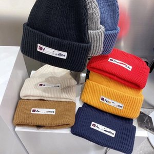 Ac Studios Smiling Face Beanie Skull Caps Knitted Cashmere Eye Warm Couple Acne Tide Street Hip-hop Wool Cap Hats