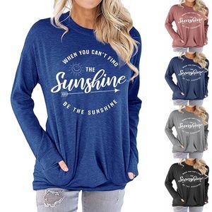 Camicia da donna Bat Be the Sunshine Stampato T-shirt a maniche lunghe a maniche lunghe caduta a maniche lunghe per le donne taglia S-2XL