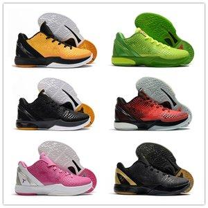 Scarpe Best2020 K6 di pallacanestro per gli uomini Black Mamba scarpe WTK Preludio Riflessione Anno del Serpente Natale 2012 Pasqua verde Plati