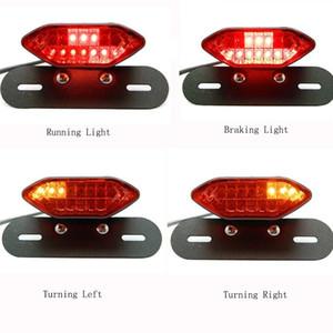 Motorcycle Taillight Universal Motorcycle Brake Brake Turn Signal License Light Light Taillight Moto Bike LED Tail Light 201029