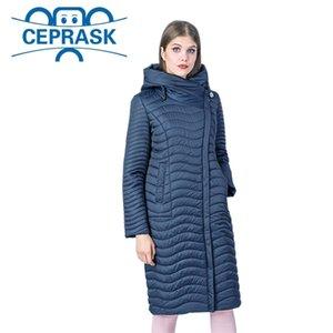Nova coleção de primavera-outono de alta qualidade jaqueta feminina windproof mulheres finas parka long plus size casaco feminino ceprask y201001