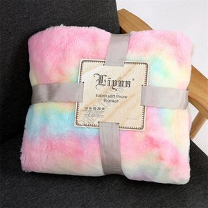 Double-faced Plush Fur Blanket Fluffy Sherpa Throw Blankets Swaddling Shaggy Bedspread Air Conditioning Rugs Carpet For Adult Kids D9804