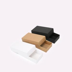 10 Sizes Black Carton Kraft Paper Square Paper Boxsmall White Cardboard Paper Packaging Boxcraft Gift Soap Packaging Box H jllpNH