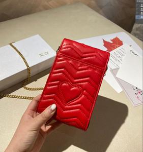 Moda Feminina Chain Chain Mobile Phone Bag 21 Novo Designer Letter Straddle Bolsa de Ombro Alta Qualidade Trend Sacos WF2101223