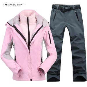 Outdoor Jacket&Pants Suit Hiking Camping Climbing Waterproof Windproof Thermal Thicken Coat And Trousers Set Winter Women Z1128