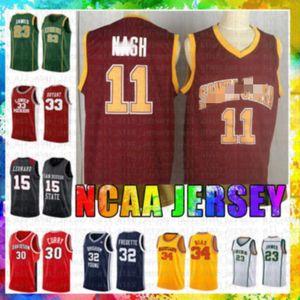 Adult Santa Clara College Steve 11 Nash Basketball Jersey Red 23 LeBron James Dwyane 3 Wade Stephen 30 Curry Allen 3 Iverson NCAA Jerseys