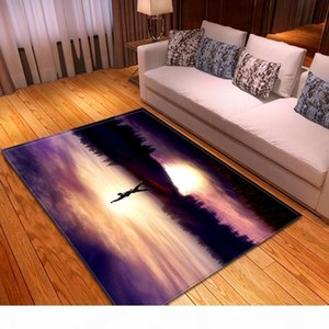 Modern Scenic Living Room Carpet Decor Bedside Floor Area Rug Baby Kids Play Crawling Rug Soft Flannel Parlor Sofa Carpets