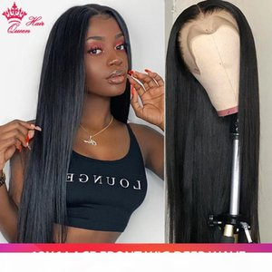 Queen Hair Brazilian 13x6 Glueless Lace Front Human Hair Wigs Pre Plucked For Black Women 10-24 Inch Fast Free Shipping