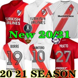 Top Quality 20 21 River Plate Home Jersey Soccer Martínez Cavenaghi Scocco Humanrace 2020 2021 Placa De Futebol Conceito Camisa