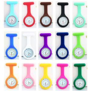 New Round Nurse Watch Brooch type Clip Nurse Jelly Fob Pocket Quartz Watch Nurse Docotor Pocket Medical Watch