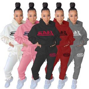 هودي رياضية النساء sleansuits هوديس + طماق طويلة الأكمام الرياضية 5 ألوان قطعتين ملابس الخريف الشتاء الملابس الركض البدلة 4316