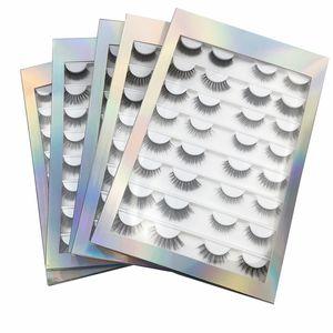 16 Pairs False Eyelashes book 3D 5D Faux Mink Eyelashes Handmade Fluffy Eye Lashes Real Mink Lashes Makeup Thick Fake Eyelashes