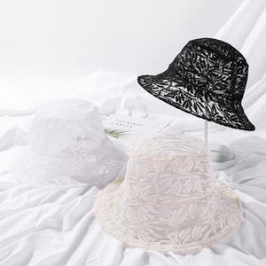Vintage Elegant Bucket Hat Fashion Korean Hat Breathable Fisherman Hat Women Summer Beach Sun Hats F1211
