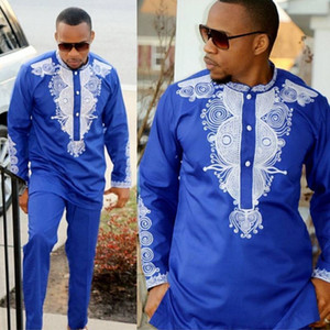 Dashiki mens top pant set 2 pieces outfit set African men clothes riche african clothing for men dashiki shirt with trouser