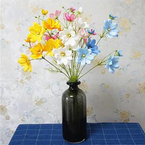 Simulación Single Branch 3-Fork Coreopsis Gesang Flower Simulación Flor artificial Flower Hogar Mueble Suministros de Boda Fotografías