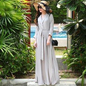 Personalizar mulheres Nova Moda Outono Plissado Slim vestido casual plus tamanho 3xs-10xl maxi vestidos de longo partido