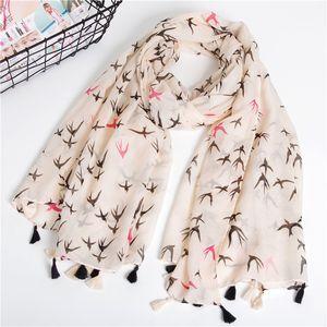 Luxury-Women sunscreen cotton and linen scarf Ethnic style silk Scarves winter print tassel shawl summer fashion dustproof beach towel