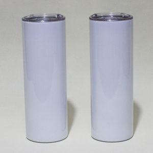 20Oz Sublimation Gerade dünne Tumbler-Leerzeichen Weißer Edelstahl-Vakuum-isoliertes konisches dünnes DIY 20 oz Cup Car-Kaffeetassen