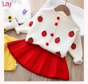 LZH niños pequeños para bebés ropa 2020 otoño invierno niños ropa vellón suéter faldas traje 2pcs ropa para niños para niños conjuntos Q1203