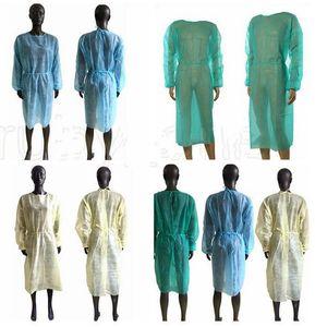 Vliesschutzschürzen Einweg-Isolationskleider Kleidung im Freien Schutzkleider Küche Anti Staub Einweg-Schürzen LSK2059