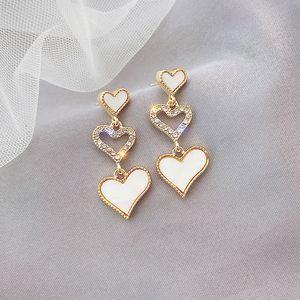 Fashion Gold Color Heart Geometric Earring for Women Girl korean designer star stud earings fashion accessoires jewelry 2021