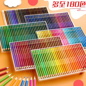 Brutfune 48 72 120 160 Colors Wood Colored Pencils Set Lapis De Cor Oil Color Pencil For School Drawing Gifts kids Art Supplies C0127