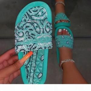 Graffiti Slippers Cashew Flowers Bandana Slides for Women Home Sandals Women's Summer Footwear New 9724 Likes On INS Wholesale