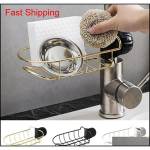 Stainless Steel Kitchen Faucet Holder Adjustbale Sink Caddy Organizer Soap Brush Dishwashing Liquid Drainer Br qylquI bdetoys