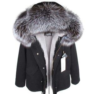 MMK Real Fur Coat New Fashion Real Fox Fur Collo Inverno Abbigliamento da donna Rimovibile Assessuale Et Breve Pike Coat
