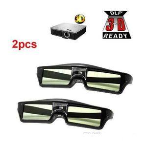 Novos 2 pcs 3D Active Shutter Óculos DLP-Link 3D Óculos para XGimi Z4x / H1 / Z5 Optoma Sharp LG Acer H5360 Jmgo Benq W1070 Projetores