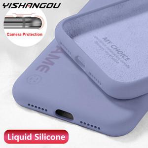 Liquid Silicone Case For Huawei P30 Pro P20 Lite Honor 30s 30 20 Pro Nova 7 SE Cases Enjoy Letter Soft Phone Back Cover Coque