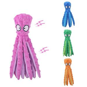 4 Farben Pet Plüsch Toy Octopus Skin Hund Puzzle Bissbeständige Stimmspielzeug Plüsch Octopus Pet Hundespielzeug W-00500