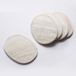 Oval natural loofah pad bath shower scrubber skin face loofah remove the dead pad 13*18cm DHF935