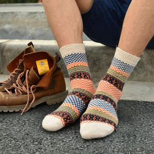 Wholesale-1 Pair Winter Mens Socks Warm Thick Wool Sokken Mixture ANGORA Cashmere Casual Dress Sport Socks calcetines hombre Cheap Z11