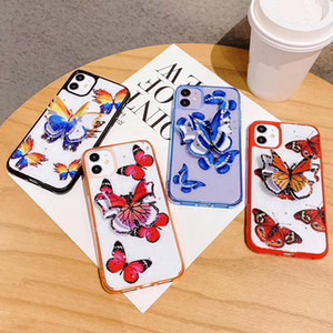 Fashion butterfly phone case for iPhone SE 2020 6 6S 7 8 Plus X XS 11 Pro Max XR case Bracket cover