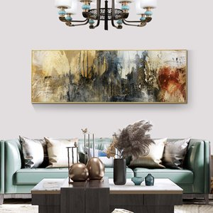 Abstract Art Oil Painting on Canvas Posters and Prints Modern Scandinavian Wall Art Picture Bedroom Cuadros Decor
