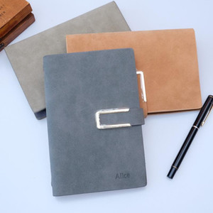Free lettering A5 A6 Spiral Notebook Faux Leather loose-leaf Diary Replaceable Gift filler paper stationery