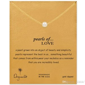 Dogeared Choker Necklaces With Card Gold Silver Pearl Pendant Necklace For Fashion women Jewelry PEARLS OF LOVE