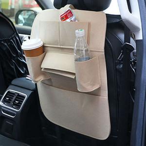Car Seat Back Storage Bag Organizer Holder Felt Cloth Multi-Pocket Auto Car Storage Organization Hanging Bag Washable Pouch VTKY2339