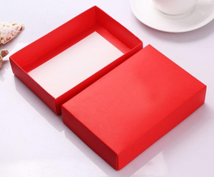 Size:19.5*14.5*4cm Purple Large Gift Box Cardboard Box Big For Clothes Packing White Kraft Gift Red Wedding