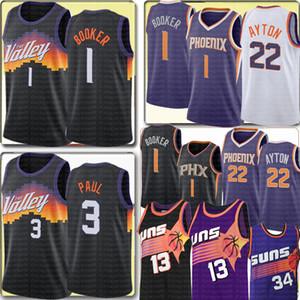 NCAA 2020 فينيكسصنزDevin 1 بوكر جامعة جيرسي كريس 3 بول ديند 22 أيتون كرة السلة الفانيلة للأطفال