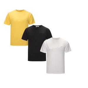 2020 Camiseta de algodón de alta calidad de verano para hombres Tops de los hombres Carta bordada Camiseta de manga corta para hombres para hombre Hombres