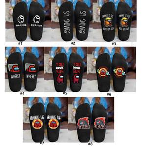 Among us designer socks Game print black sock High quality sport Socks Sports Basketball Socks For Men Women 1lot=1pair=2pcs NEW D120303