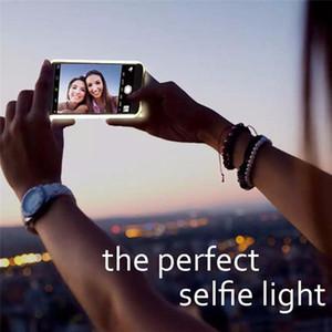 ضوء توهج حالة الهاتف ل IP X XSMAX Case صورة ملء ضوء قطعة أثرية ل IP 12 Pro Selfie Mobile Shell For IP 8 Case