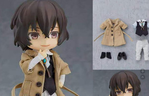 Anime BUNGO STRAY DOGS Dazai Osamu Nakahara Chuuya Real Clothes PVC Active Figure Toy Statue Collection Model Doll Children Gift