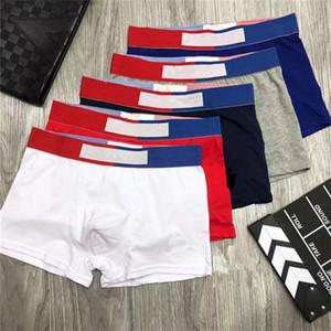 Fashion Mens Underwear Letter Print Boxers Boys Cotton Breathable Underpants Men Cuecas Shorts U Convex Short Pants High Waist Boxers 6Color